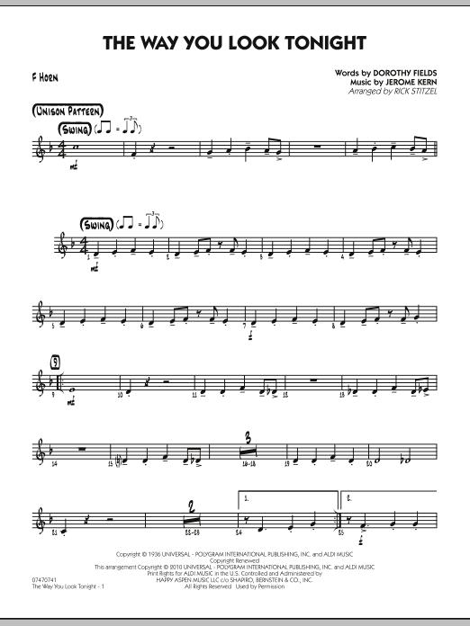 The Way You Look Tonight - F Horn (Jazz Ensemble)