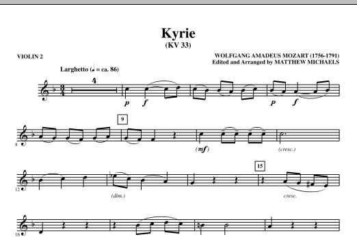Kyrie (KV33) - Violin 2 Sheet Music