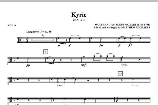Kyrie (KV33) - Viola Sheet Music