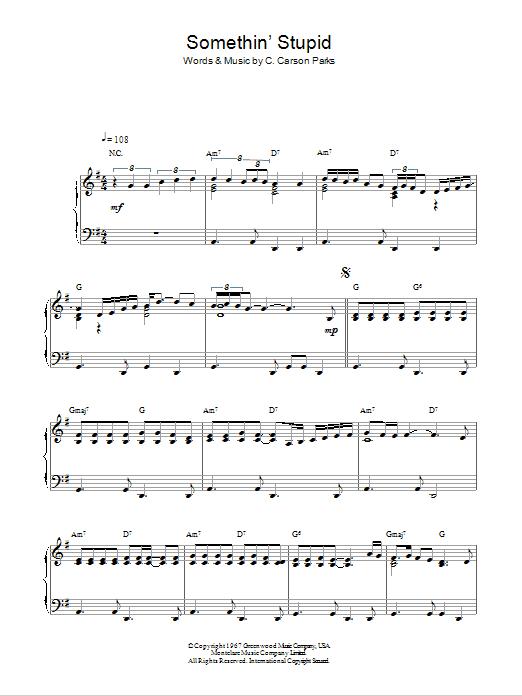 Somethin' Stupid (Piano Solo)