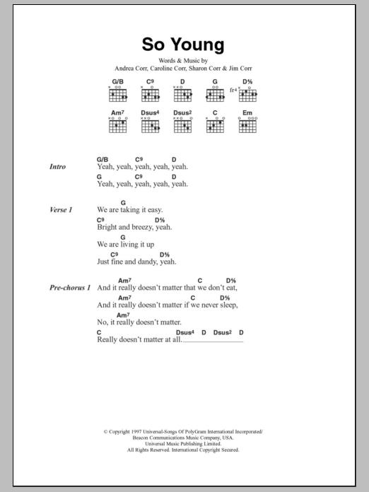 So Young Sheet Music