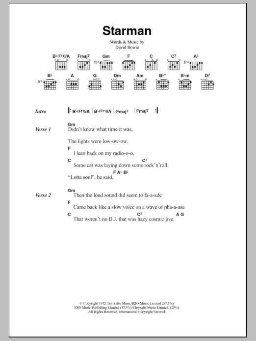 Starman | Sheet Music Direct