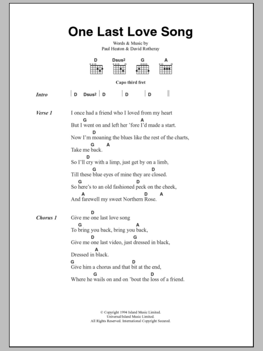 Beautiful one guitar chords