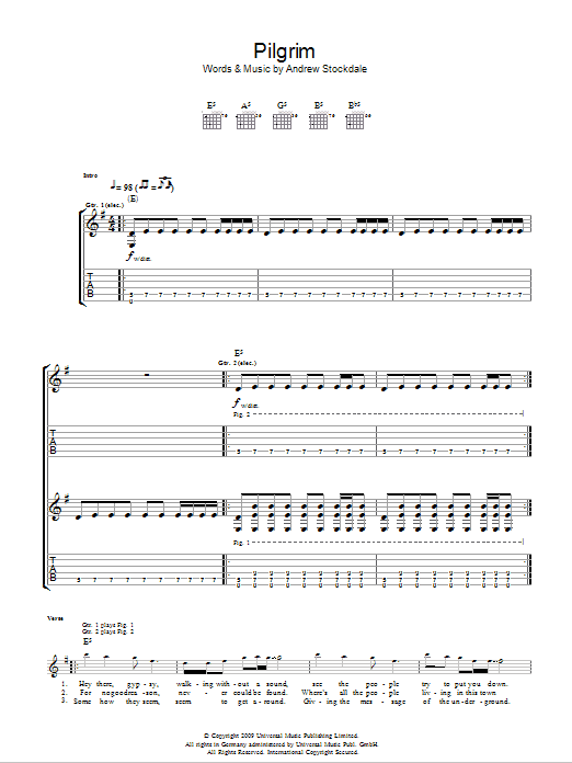 Pilgrim Sheet Music