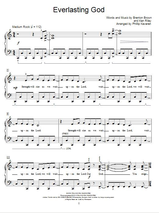 Everlasting God (Educational Piano)