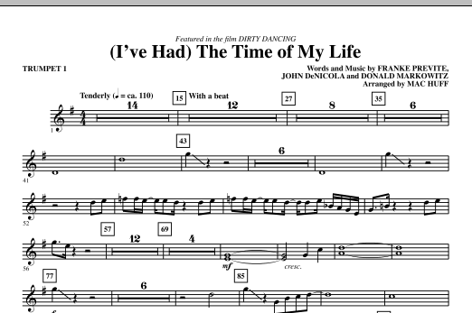 (I've Had) The Time Of My Life (complete set of parts) sheet music for orchestra/band (chamber ensemble) by Mac Huff, Donald Markowitz and John DeNicola. Score Image Preview.