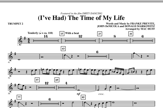 (I've Had) The Time Of My Life - Trumpet 2 Sheet Music