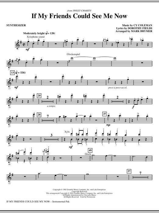 If My Friends Could See Me Now (from Sweet Charity) - Synthesizer (Choir Instrumental Pak)