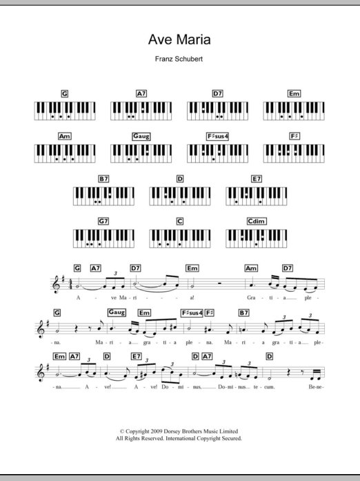 Ave Maria Sheet Music To Download