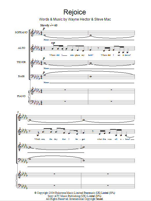 Rejoice Sheet Music