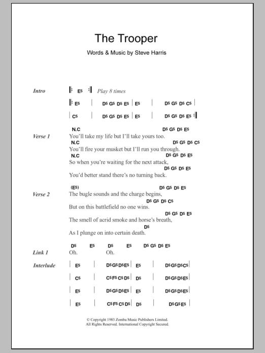 The Trooper Sheet Music