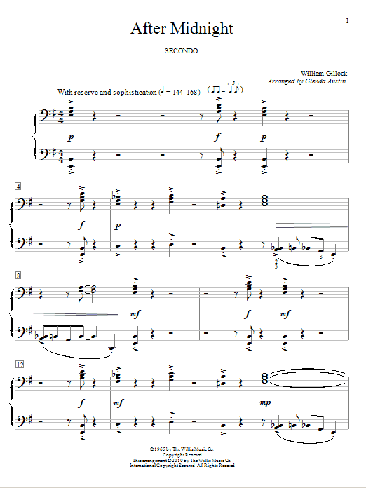 After Midnight Sheet Music