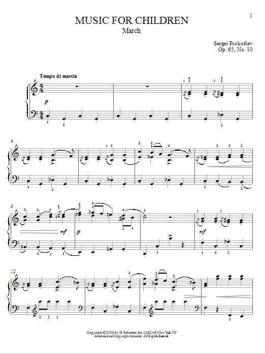 March Sheet Music