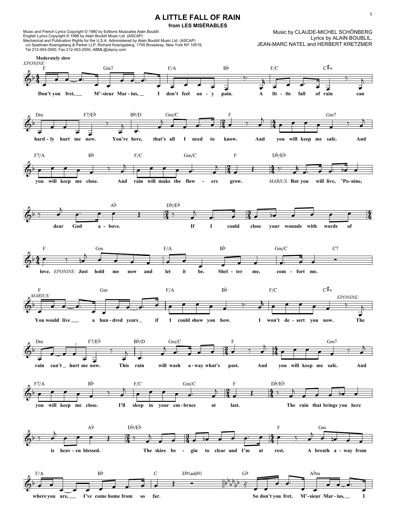 A little fall of rain sheet music direct sheet preview hexwebz Choice Image