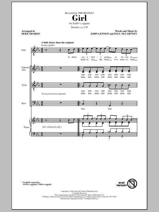 Girl (SATB Choir)