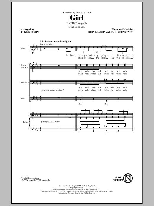 Girl Sheet Music