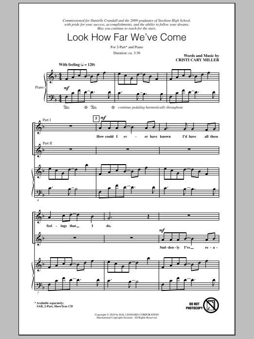 Look How Far We've Come Sheet Music