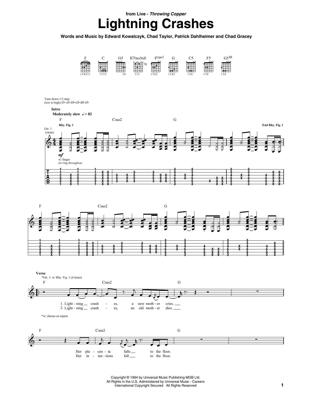 Lightning Crashes | Sheet Music Direct
