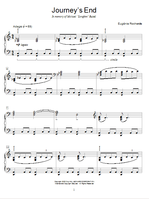 Journey's End Sheet Music