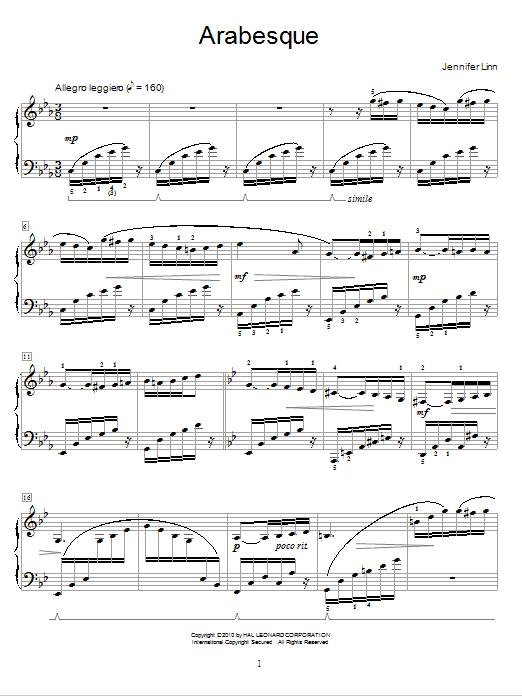 Arabesque Sheet Music