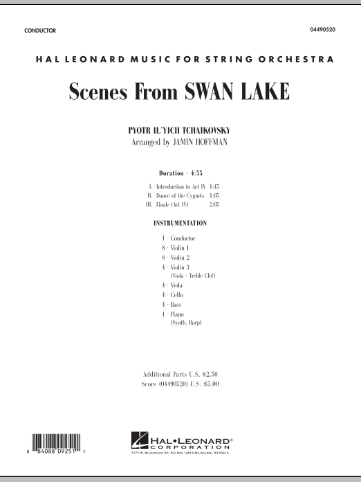 Scenes from Swan Lake (COMPLETE) sheet music for orchestra by Pyotr Ilyich Tchaikovsky and Jamin Hoffman. Score Image Preview.