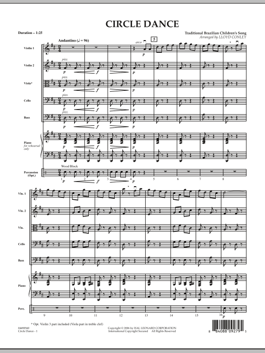 Circle Dance (COMPLETE) sheet music for orchestra by Lloyd Conley and Miscellaneous. Score Image Preview.