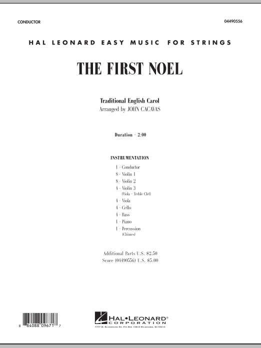 The First Noel - Full Score (Orchestra)
