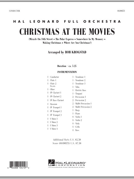 Christmas At The Movies - Orchestra Music Download