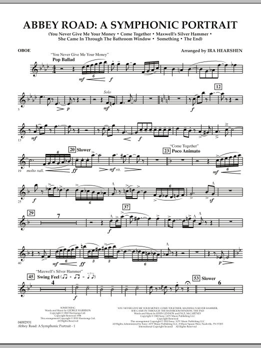 Abbey Road - A Symphonic Portrait - Oboe (Concert Band)