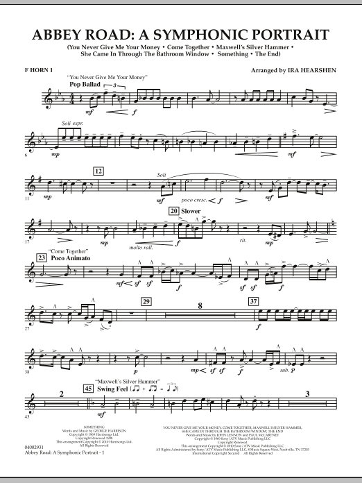 Abbey Road - A Symphonic Portrait - Horn 1 in F (Concert Band)