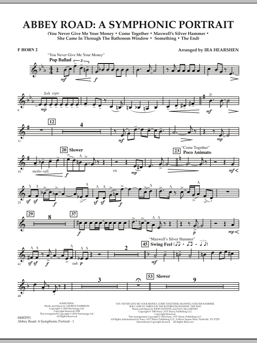 Abbey Road - A Symphonic Portrait - Horn 2 in F (Concert Band)