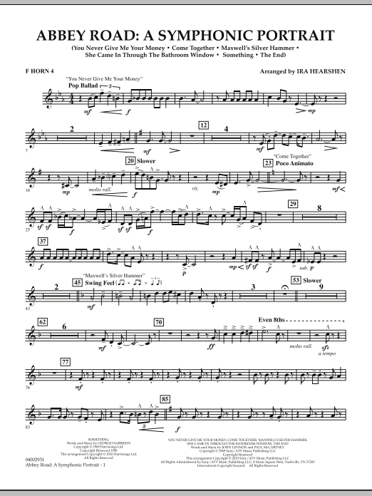 Abbey Road - A Symphonic Portrait - Horn 4 in F (Concert Band)