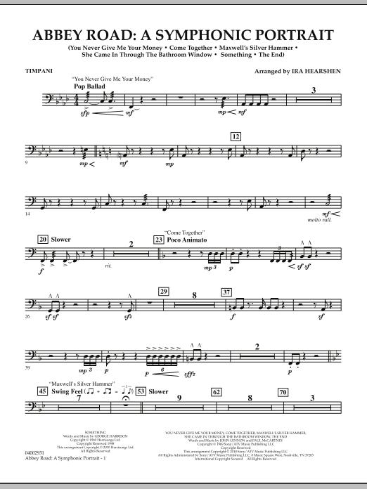 Abbey Road - A Symphonic Portrait - Timpani (Concert Band)