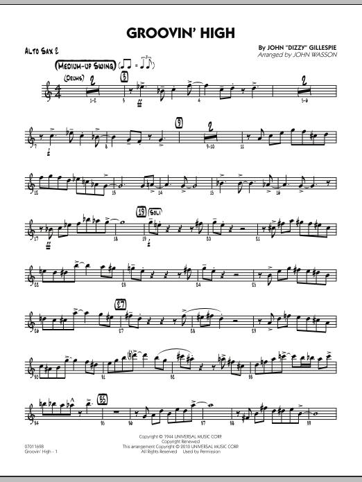 Groovin' High - Alto Sax 2 (Jazz Ensemble)