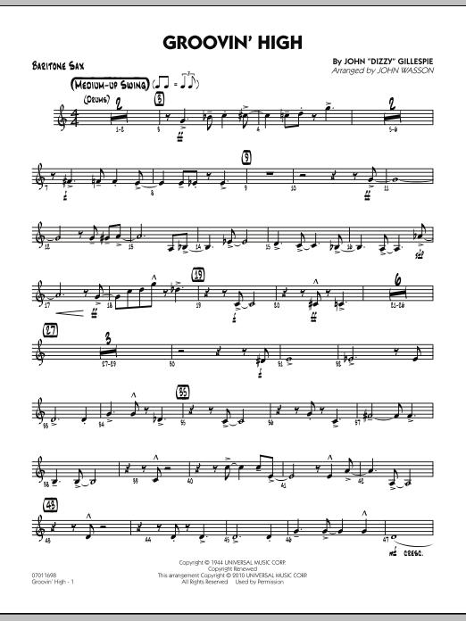 Groovin' High - Baritone Sax (Jazz Ensemble)