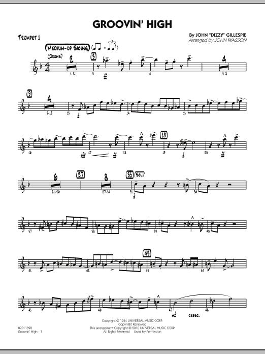 Groovin' High - Trumpet 1 (Jazz Ensemble)