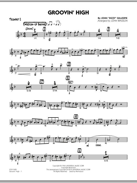 Groovin' High - Trumpet 2 (Jazz Ensemble)