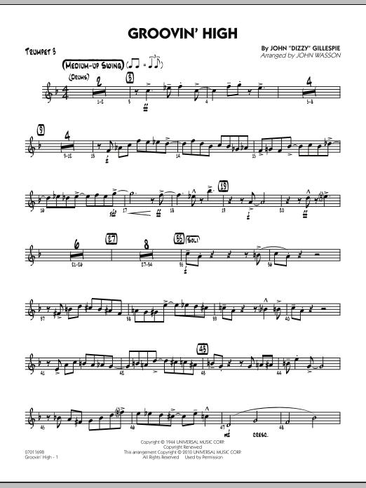 Groovin' High - Trumpet 3 (Jazz Ensemble)
