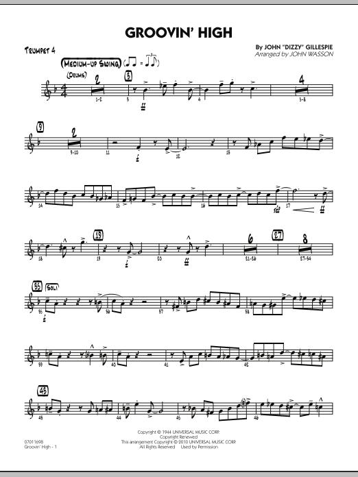 Groovin' High - Trumpet 4 (Jazz Ensemble)