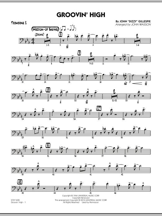 Groovin' High - Trombone 2 (Jazz Ensemble)