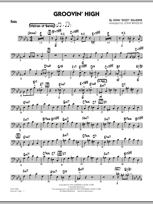 Groovin' High - Bass (Jazz Ensemble)