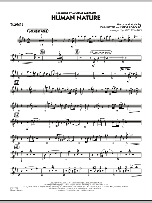 Human Nature - Trumpet 1 (Jazz Ensemble)