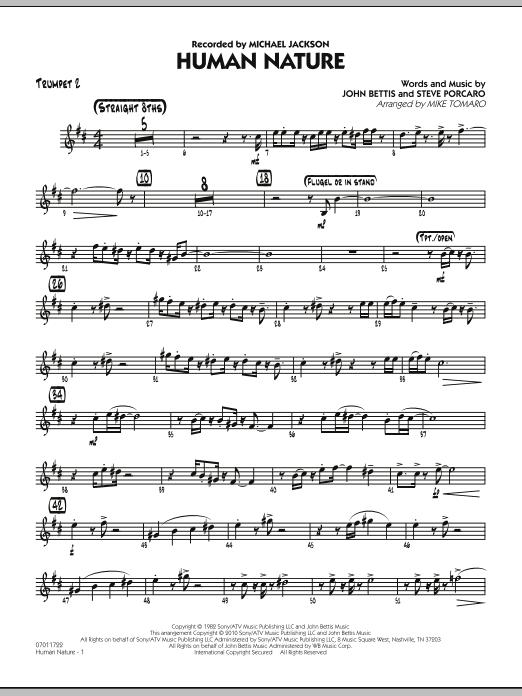 Human Nature - Trumpet 2 (Jazz Ensemble)