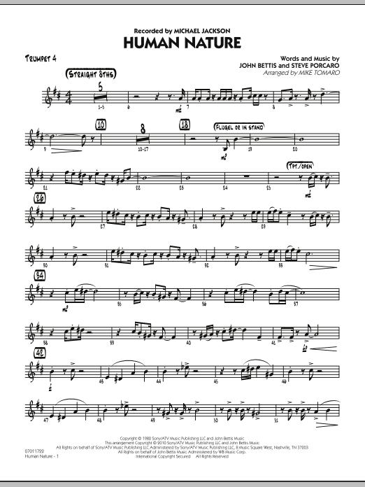 Human Nature - Trumpet 4 (Jazz Ensemble)