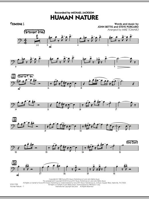 Human Nature - Trombone 1 (Jazz Ensemble)