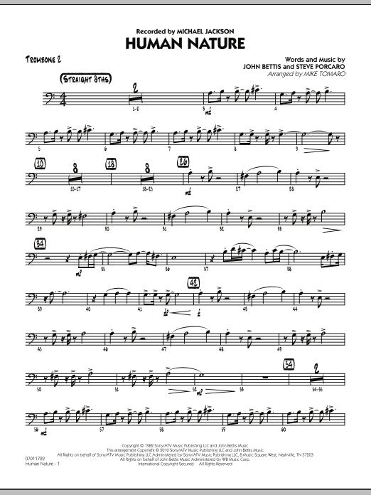 Human Nature - Trombone 2 (Jazz Ensemble)
