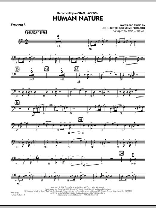 Human Nature - Trombone 3 (Jazz Ensemble)