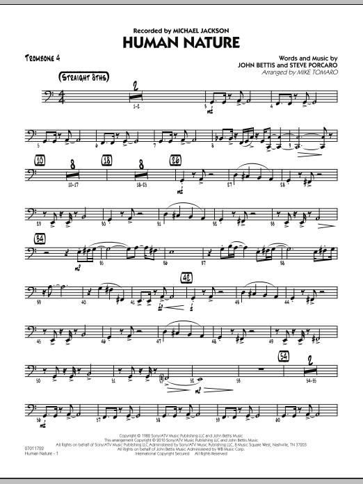 Human Nature - Trombone 4 (Jazz Ensemble)