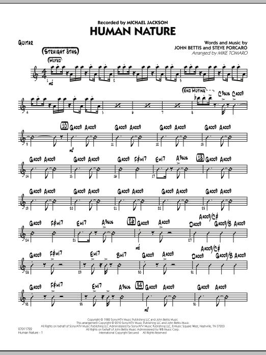 Human Nature - Guitar (Jazz Ensemble)