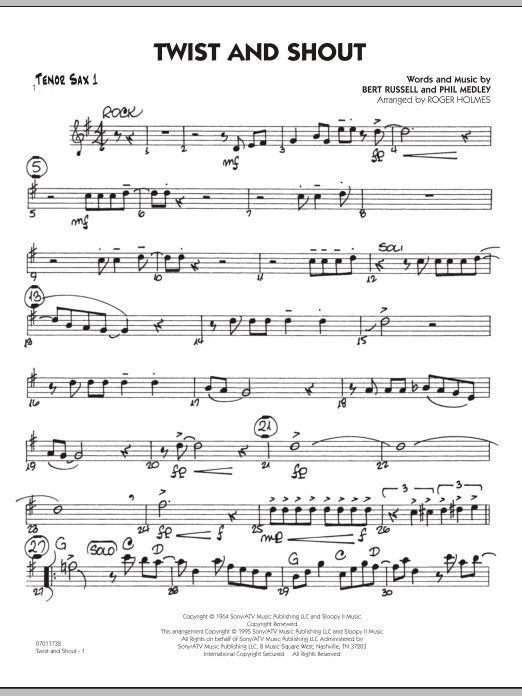Twist And Shout - Tenor Sax 1 (Jazz Ensemble)